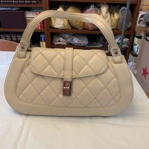 Chanel Ivory Caviar Leather Mademoiselle Lock Bag